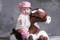 Картинка дети, фото, шапка, лошадь, игрушка, младенец
