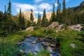 Картинка горы, пейзаж, река