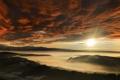Картинка горы, природа, река, высота, панорама, дымка, расвет