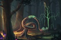 Картинка лес, деревья, грибы, дух, арт