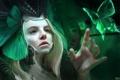 Картинка зелень, девушка, лицо, бабочка, арт, шлем