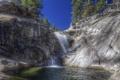 Картинка лес, Yosemite National Park, скалы, водопад, природа, горная река
