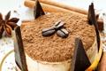 Картинка кофе, шоколад, зерна, палочки, торт, пирожное, корица