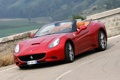 Картинка дорога, авто, red, феррари, Ferrari California