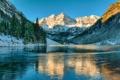 Картинка лед, зима, небо, снег, горы, озеро