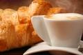 Картинка аромат, круассаны, кофейные зерна, coffee, кофе, croissants, cream flavor