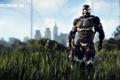 Картинка город, герой, нанокостюм, Crysis 3