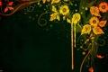 Картинка цветы, желтый, зеленый