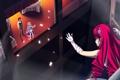 Картинка девушки, здание, окно, арт, столы, парень, makita maki