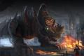 Картинка машина, фантастика, огонь, арт, цепи, носорог