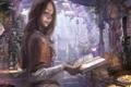 Картинка граммофон, reishin, бабочки, девушка, свеча, гербарий, пузырьки