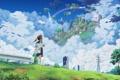 Картинка небо, город, isai shizuka