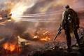 Картинка истребители, снайпер, Sniper Ghost Warrior 2, горящий город