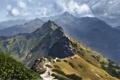 Картинка горы, человек, арт