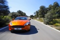 Картинка Aston Martin, Авто, Дорога, Оранжевый, Передок, Спорткар, stratus
