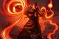 Картинка огонь, warlock, art, чернокнижник, портал, human, world of warcraft