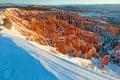 Картинка зима, снег, горы, скалы, Юта, США, Bryce Canyon National Park