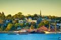 Картинка город, New Scotland, побережье, дома, фото, Lunenburg, Канада