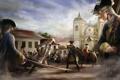 Картинка люди, солдаты, арт, церковь, assassins creed, ассасин, арена