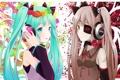 Картинка цветы, девушки, аниме, наушники, арт, vocaloid, hatsune miku