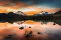 Картинка пейзаж, закат, озеро, portland, Sparks Lake, pacificwest