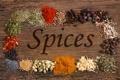 Картинка карри, приправы, красный перец, чёрный перец, специи, гвоздика, тмин