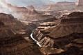 Картинка скалы, вечер, каньон, дымка, аризона, grand, canyon