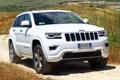 Картинка белый, фон, Джип, передок, Jeep, Grand Cherokee, Гранд Чероке