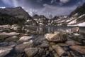 Картинка вода, горы, природа, озеро, камни