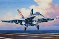 Картинка авиация, истребитель, авианосец, самолёт, Super Hornet, Boeing F/A-18E