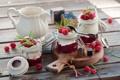 Картинка завтрак, yogurt, Breakfast, raspberry, малина, йогурт