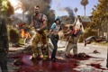 Картинка zombies, knives, machetes and axe, dead island 2, man, swords, woman