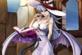 Картинка взгляд, девушка, улыбка, котенок, магия, крылья, демон