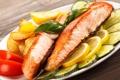 Картинка фото, Рыба, Еда, Огурцы, Морепродукты, Лимоны